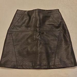 H&m faux leather black mini skirt